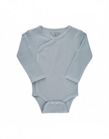 Fixoni Slå om body L/Æ Baby Blå